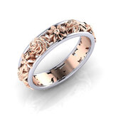 Sweet Rose Gold Flower Hollow verlovingsring trouwring