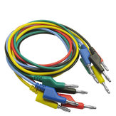 DANIU P1036 10Pcs 1M 4mm Banana a Banana Plug Cable de prueba Cable para Multímetro probador 5 colores