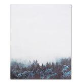 Moderne nordique minimaliste forêt toile Art affiche impression mur photo maison bureau décor