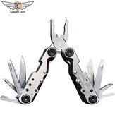 ALMIGHTY EAGLE 11 in 1 Multi-function Folding Portable EDC Tool Bottle Opener Sharp Pocket Multitool Pliers Saw Knife Blade Screwdriver Indoor and Outdoor Tools