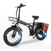 [Diretto UE] CMACEWHEEL GW20 48V 15Ah 750W Bicicletta elettrica pieghevole da 20 pollici con Borsa 30-45 km / h Velocità 80-100 km Chilometraggio Bicicletta elettrica E Bike