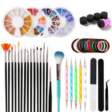 Nail Art Design Set  Painting Polishing