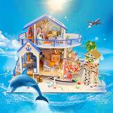 Hoomeda Legend Of The Blue Sea DIY Соберите вручную Кукла Миниатюрная модель дома с подсветкой Музыка для подарочной коллекции Украшение дома
