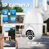 Guudgo 1080P 10 LED5Xズームアップグレードされた4アンテナHD屋外PTZIPカメラ双方向オーディオ音声アラームWifiカメラ自動防水暗視監視