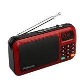 Mini rádio FM portátil Rolton W405 Music Player USB TF Card Alto-falante para PC com receptor estéreo HiFi LED Rádio FM digital