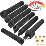 7pcs 12mm Shank CNC Lathe Turning Tool Holder Set With Carbide Inserts