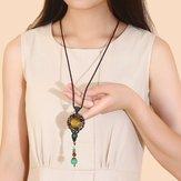 Этническое плетение ожерелье