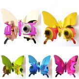 12PCS 5 Colors 3D Mirror Surface Butterfly Wall Sticker Fridge Magnet Home Decor Art Applique
