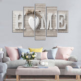 5 Panels Love HOME Wall Art Print Pictures Canvas Wall Art Prints Unframed For Home Decorations