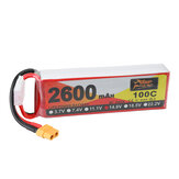 ZOP Power 14.8V 2600mAh 100C 4S Lipo Batterie XT60 Stecker für RC Racing Drone