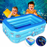 1.2/1.3/1.5M Large Inflatable Anti-slip Swimming Pool Outdoor Children Paddling Bathtub