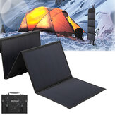 40W Solar Panels 2 USB+DC Waterproof Folding Solar Monocrystalline Silicon Board Power Bank Solar Charger Bag Camping Travel