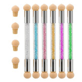 6Pcs Unhas Ferramenta Gradiente Pen Halo Pen Light Therapy Point Color Cola Esponja Pen Double Head