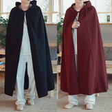 Vintage Hooded Cloak Longgar Cape Mantel Panjang Cosplay Costume