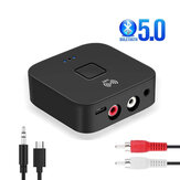 Vikefon Trasmettitore audio Bluetooth V5.0 abilitato NFC ricevitore Adattatore audio wireless Aux 2RCA da 3,5 mm per TV Altoparlante per PC Sistema audio per auto Sistema audio domestico