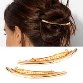 Trendy Hair Clips Alloy Mental Silver Gold Curve Simple