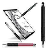 FONKEN Stylus Pluma Universal 2 en 1 de alta sensibilidad capacitiva de doble cabezal Pluma Dibujo de lápiz táctil para pantalla táctil Pluma para tableta Apple Android Adecuado para dispositivos de pantallas capacitivas