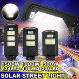 500-2500 واط 208-624 LED سولار ستريت ضوء PIR موشن المستشعر مصباح حائط مع التحكم عن بعد