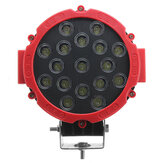 7inch 51W Round LED Work Light Fog Lamp 6000K White For 9-35V Offroad ATV Truck 4WD SUV Boat