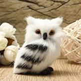 Owl White Black Furry Christmas Ornament Decoration Adornment Simulation H2.75