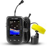 ERCHANG XF02-C 2.8 inç LCD Balık Bulucu Sonar 100M Derinlik Mesafe Göl Balık Algılama Profesyonel Sonar Sensör