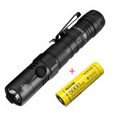 NITECORE MH12 V2 1200 Lumen USB-C Rechargeable LED Tactical Flashlight with 5000mAh 21700 Battery