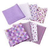 8Pcs/Set Cotton Fabric Assorted Pre Cut Squares Quilt Pillow Handcraft  Home Decor