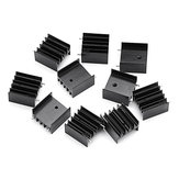 30Pcs TO-220 Aluminum Triode Heat Sink 25x23.5x15.8mm Aluminum Radiator