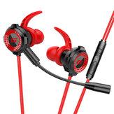 TOPK F36 Fone de ouvido com fio Super Bass Estéreo Dinâmico Fones de ouvido Fone de ouvido intra-auricular esportivo de 3,5 mm para jogos com microfone removível