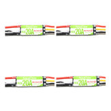 4X Racerstar RS20A 20A BLHELI_S OPTO 2-4S ESC Support Oneshot42 Multishot DShot for RC FPV Racing Drone