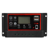 10A/20A/30A 12V/24V Solar Panel Chager Controller Photovoltaik Solarmodul  LCD Display Dual USB