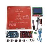 Kit scheda principale stampante 3D RAMPS 1.4 + Mega 2560 + DRV8825 + 12864LCD + PCB Heat Bed MK2B
