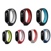 Bakeey Double Color Silicone Watch Strap Replacement Smart Watch for Xiaomi Mi Band 3 Non-original