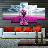 5 шт. Холст картины с фиолетовым цветком лаванды настенная декоративная печать художественные картины бескаркасные настенные украшения д
