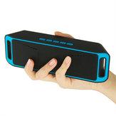SC208 Taşınabilir Çift Hoparlör TF Kartı Aux-in U Disk Sesli İstemi Kablosuz Stereo Bluetooth Hoparlör