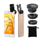 Bakeey Universal Clip الة تصوير Lens 0.67 Wide Angel + 180 Degree Fish Eye + Macro For Mobile هاتف Tablet