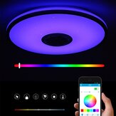 40CM bluetooth WiFi LED Ceiling Light RGB APP Music Speaker Dimmable Lamp dengan Remote Control 110-245V