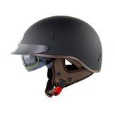 SOMAN SM202 Retro Vintage metade do rosto capacete da motocicleta scooter elétrico equitação cruzeiro capacetes de segurança com viseira solar interna cor sólida