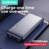 JOYROOM Power Bank 20000mAh LED Display 2 Alimentation USB avec Mico USB Type-C Entrée de charge rapide pour iPhone XS 11Pro Huawei P30 P40 Pro Mi10 Oneplus 8Pro