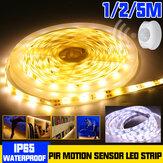 1M 2M 5M Impermeable LED Tira de luz 2835 SMD PIR Movimiento Sensor Armario regulable Lámpara para armario Armario DC12V