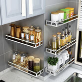 Singe Layer Stainless Steel Rack Organizer Storage Wall Mounted Basket for Kitchen Bathroom Shower Shelf