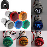 Geekcreit® 2in1 22mm AC50-500V 0-100A Amp Voltmeter Ammeter Voltage Current Meter مع CT Au23