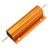 3pcs RX24 100W 50R 50RJ Metal Aluminum Case High Power Resistor Golden Metal Shell Case Heatsink Resistance Resistor