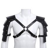 Skórzanakamizelkataktycznaregulowanawklatce piersiowej Body Men Outdoorowy pas do polowania na ramię na ramię z klamrami