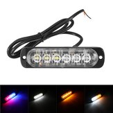 12V-24V 6LED Luces de advertencia de emergencia de luces estroboscópicas super brillantes Barra de luces intermitentes de la policía