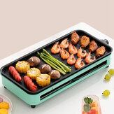 YUANSHIREN портативный электрический гриль для барбекю теппаньяки бездымный барбекю горячий противень Пластина стол