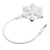 1 to 5 Snowflake Audio Adapter Headphone Audio Splitter Music Share Audio Splitter 5 Plug 3.5mm Headphone Splitter