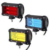 5 Inç 48 W 24 LED İş Işık Çubuğu Sel Işın Lamba Araba SUV için Bot Offroad ATV Sürüş