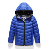 Chilidren Electric Heated Hooded Coat Winter Warm Jacket USB 3s FastHeating。