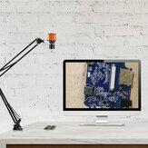 HAYEAR 24MP 1080P 2K HDMI USB TF Gravador de vídeo Laboratório industrial Solda Câmera de vídeo microscópico Lente de zoom de grande campo visual